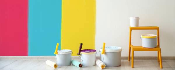 رنگ کردن خانه های کوچک